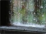 La lluvia tras los cristales